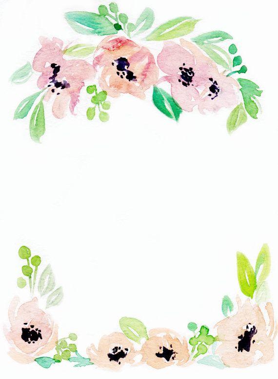 Clipart floral border svg Downloadable floral border 3 | art | Watercolor border, Borders for ... svg