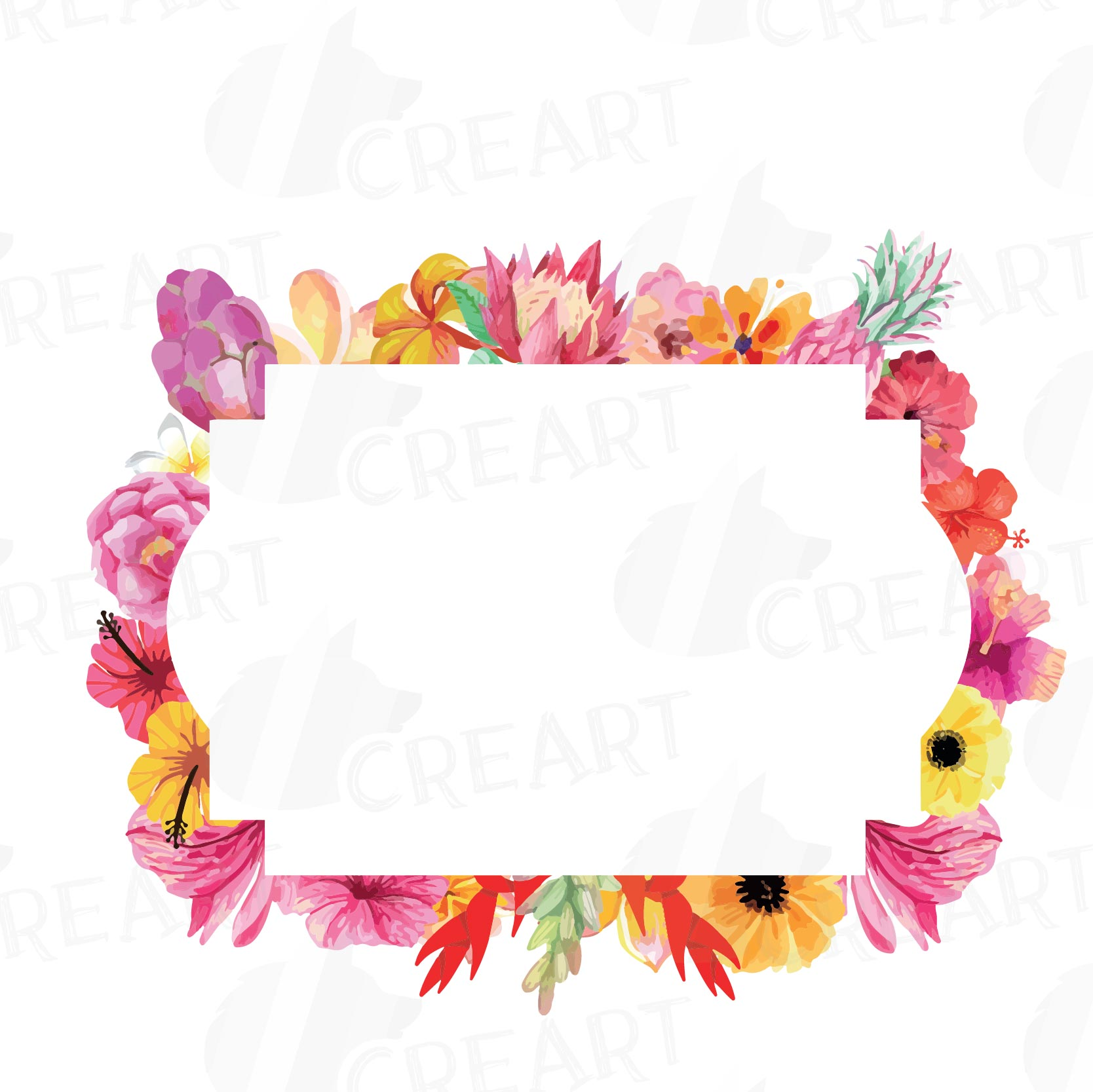 Clipart floral border svg black and white Floral frames watercolor clip art collection, Borders, sweet digital  labels, floral borders clip art, digital stamp, wedding frames svg black and white
