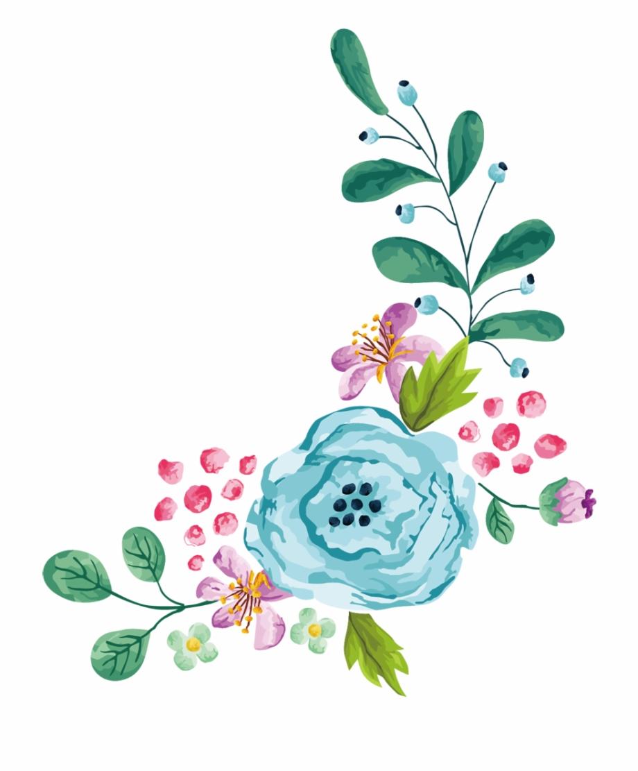 Clipart floral border jpg free Transparent Watercolor Flowers - Transparent Floral Border Clip Art ... jpg free