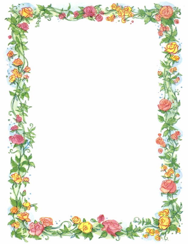 Clipart floral border banner black and white download Free Flower Borders Free, Download Free Clip Art, Free Clip Art on ... banner black and white download