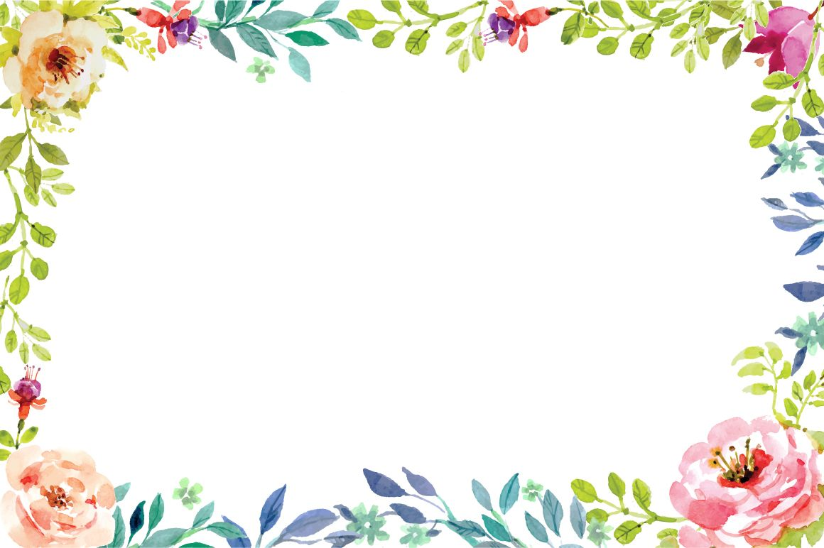 Clipart floral frame graphic library stock Hand painting floral frame vector | Teacher Appreciation Committee ... graphic library stock