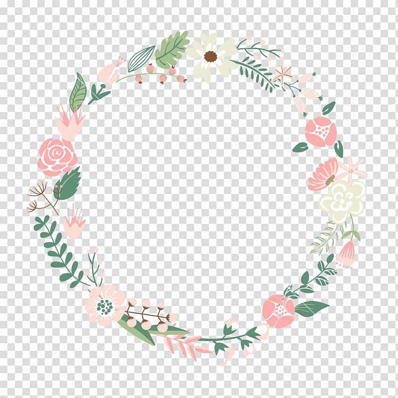 Clipart floral frame banner download Flower frame Wreath , Floral Frame , green, white, and pink floral ... banner download
