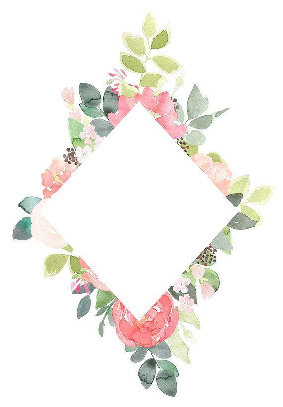 Clipart floral frame picture royalty free stock Peony Clipart Floral Frames - Coral Peonies Clip Art, watercolor ... picture royalty free stock