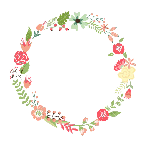 Clipart floral frame image black and white stock Flower Wreath Picture frame Circle Clip art - Floral Frame PNG ... image black and white stock