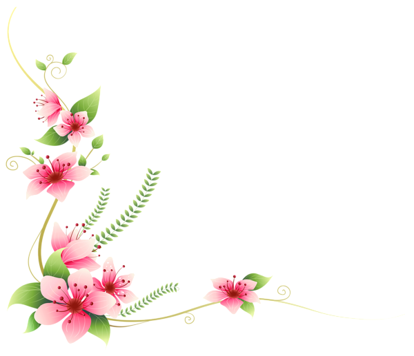 Clipart flower banner svg royalty free Pink Flowers Decoration PNG Clip-Art Image | IT | Pinterest | Flower ... svg royalty free