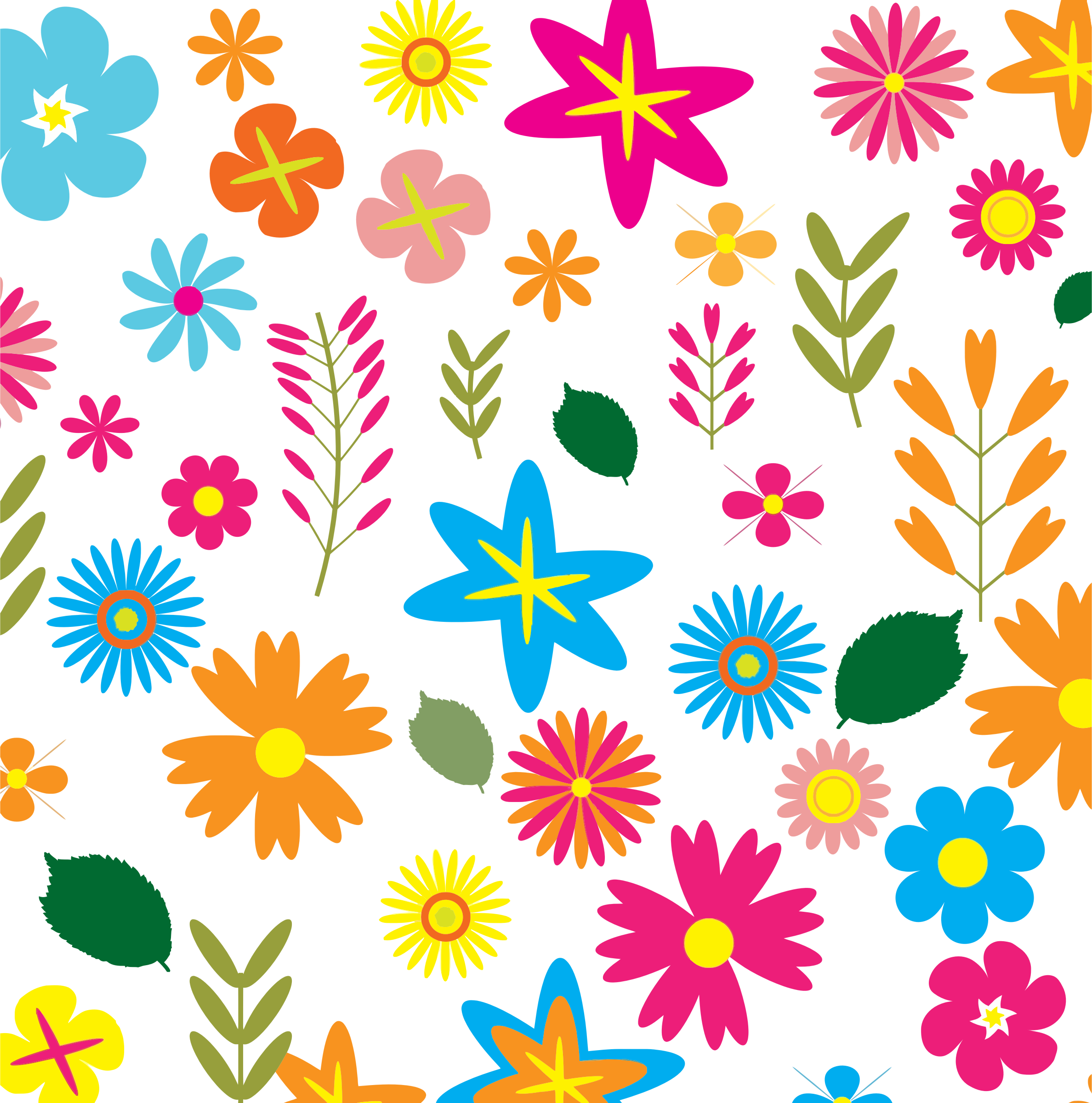 Flower clipart backgrounds graphic transparent stock Clipart - Colorful Floral Pattern Background 3 graphic transparent stock