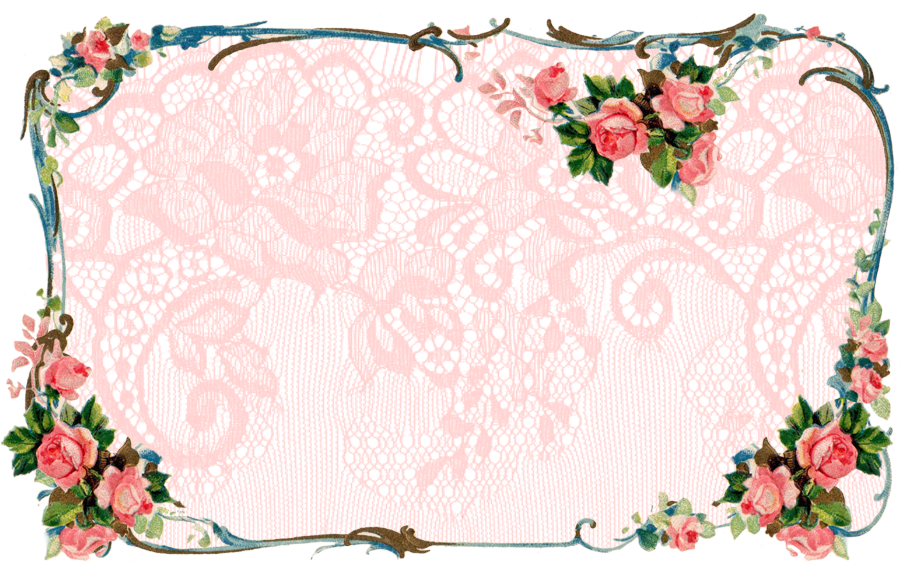 Clipart flower banner png freeuse library ♥ Freebie Images: Matching Victorian Rose Banner and Facebook ... png freeuse library