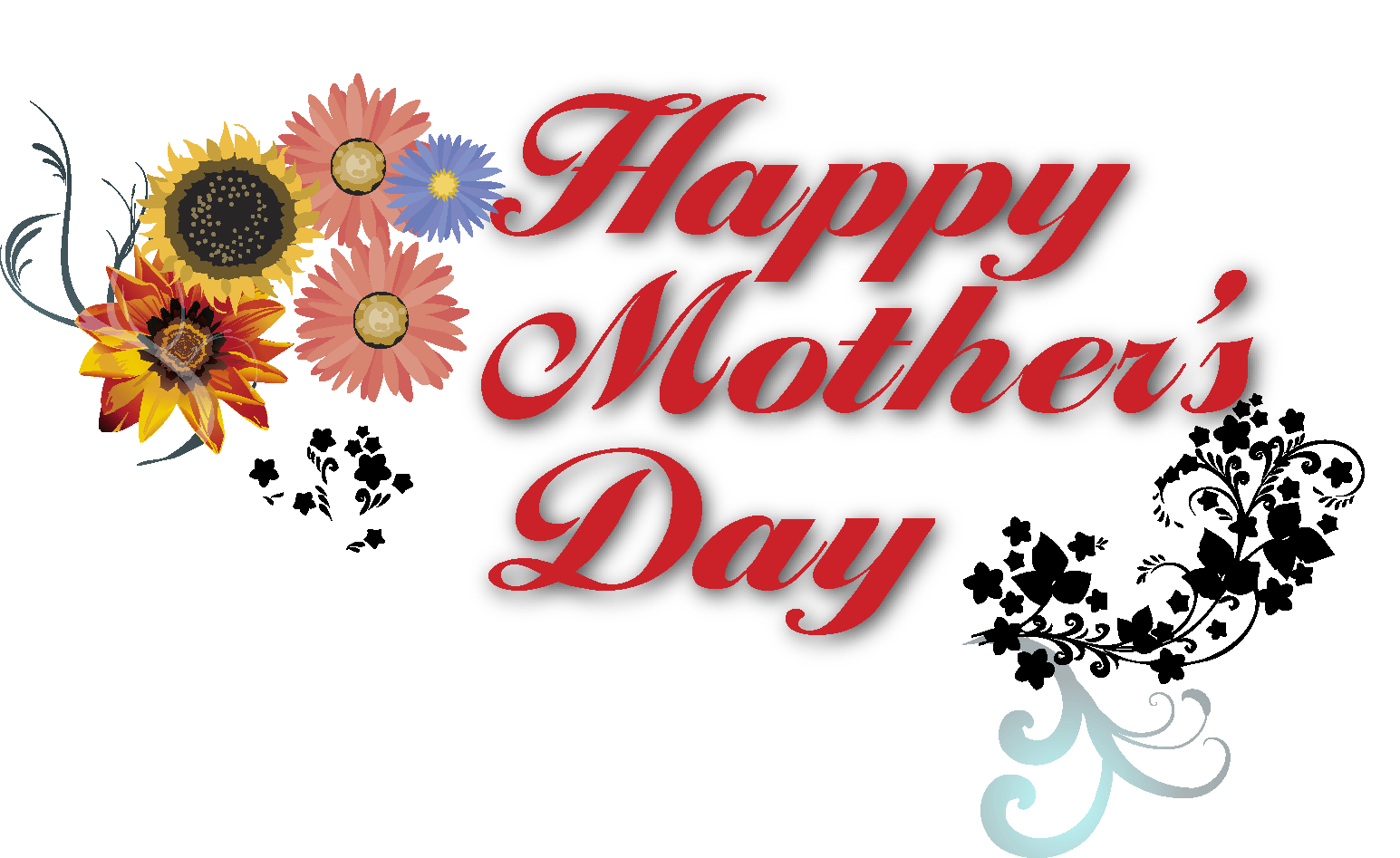 Clipart flower banner png free stock Happy Mothers Day Banner Text transparent PNG - StickPNG png free stock