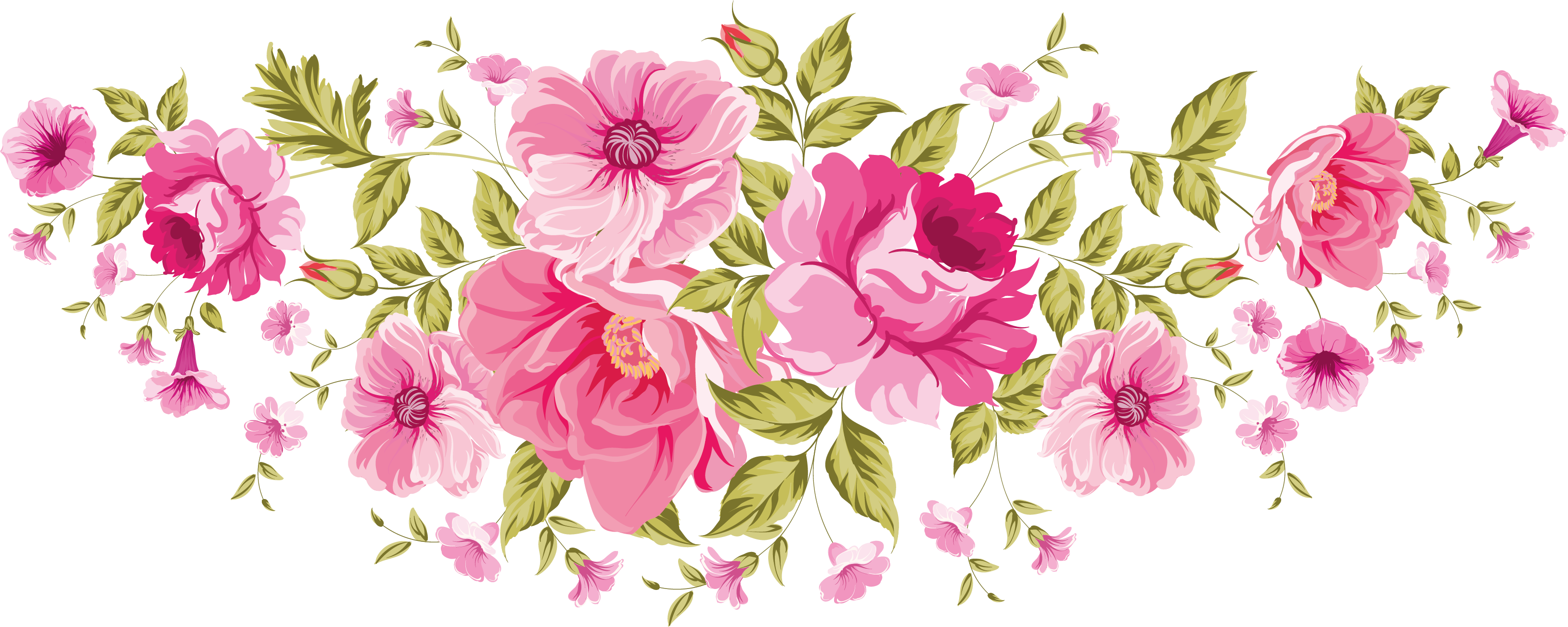 Flower banner clipart. Flowers png xxl decoupage