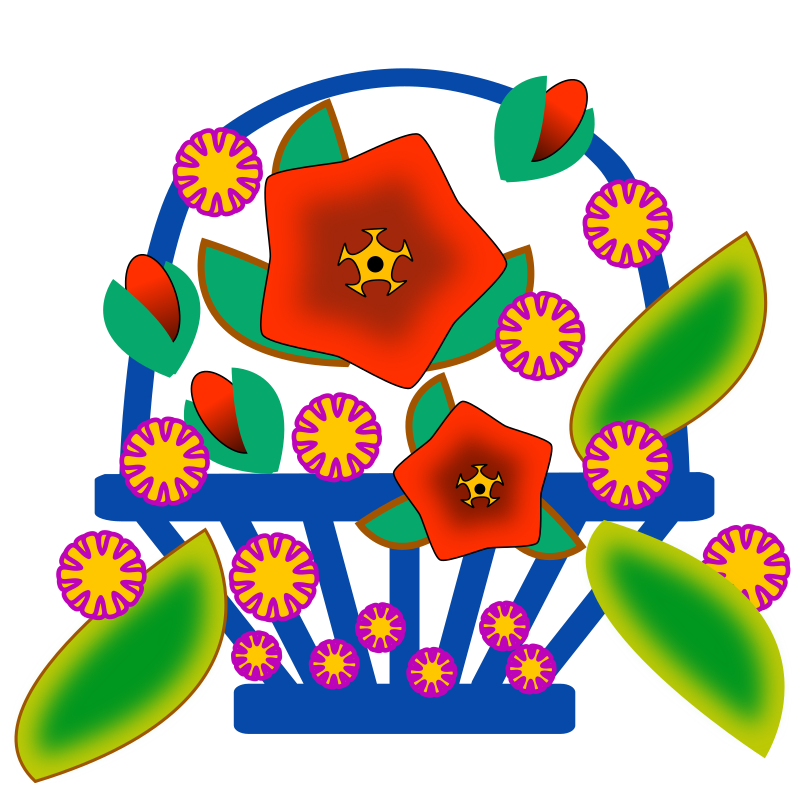 Clipart flower basket graphic freeuse download Clipart - Flower Basket graphic freeuse download