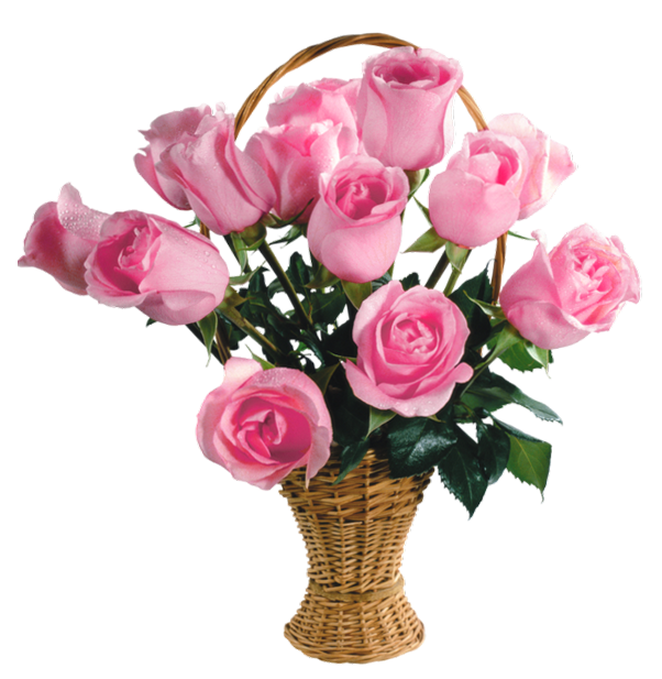 Clipart flower basket banner royalty free download Transparent Pink Roses Basket PNG Picture   flowers   Pinterest ... banner royalty free download