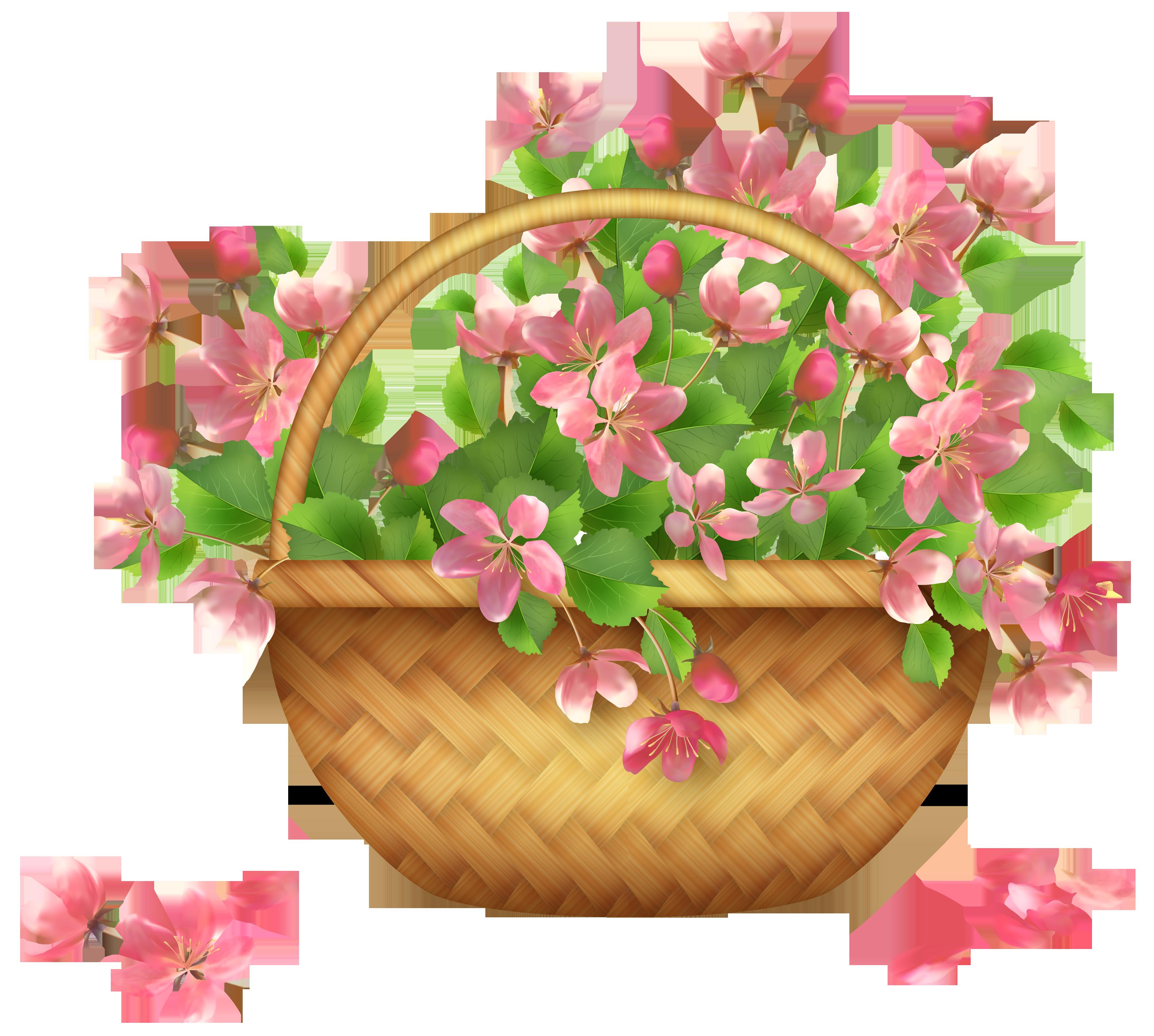 Clipart flower basket jpg transparent Spring Flower Basket PNG Clipart   Gallery Yopriceville - High ... jpg transparent
