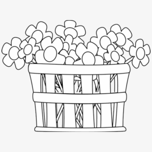 Clipart flower basket silhouette black and white banner freeuse stock Free Basket Of Flowers Clipart Cliparts, Silhouettes, Cartoons Free ... banner freeuse stock