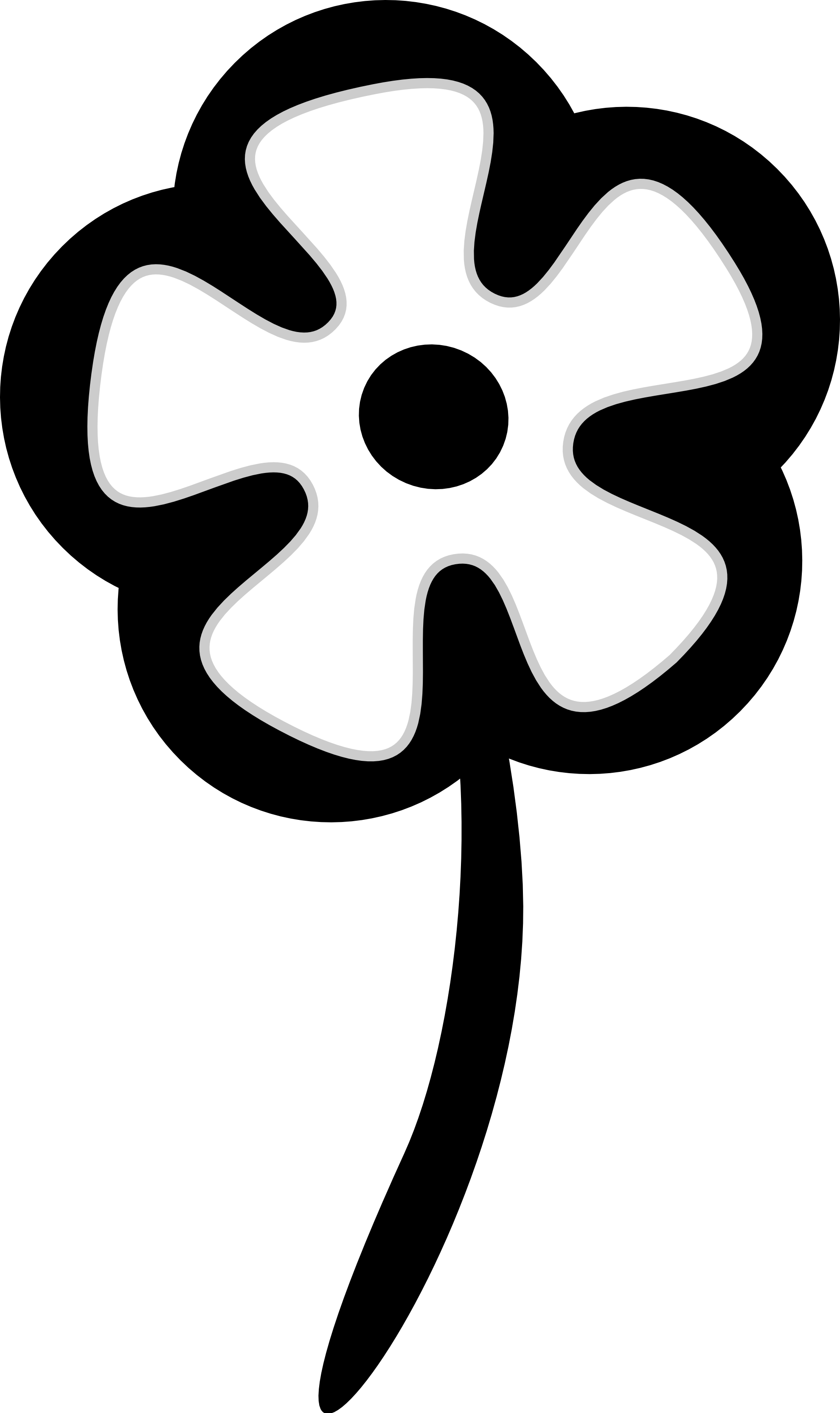 Tiny flower clipart clip black and white download Clip Art Flower Black And White | Clipart Panda - Free Clipart Images clip black and white download
