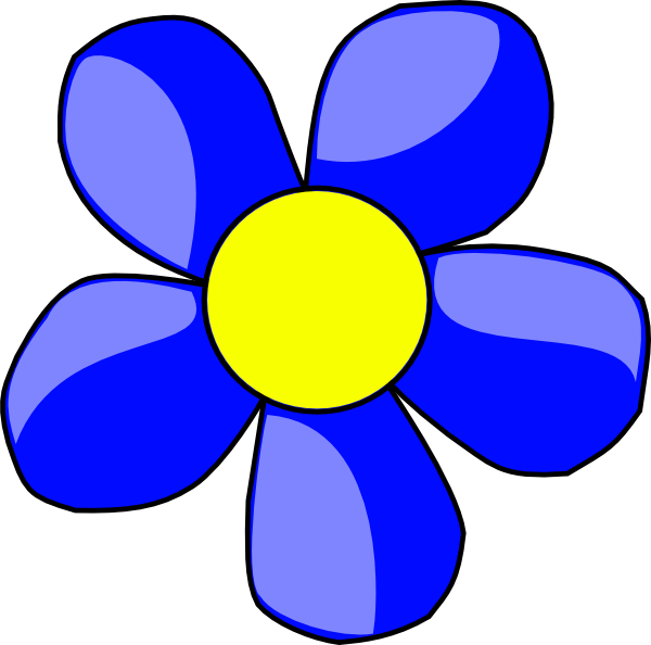 Clipart flower blue graphic free library Baloon1 04 Clip Art at Clker.com - vector clip art online, royalty ... graphic free library