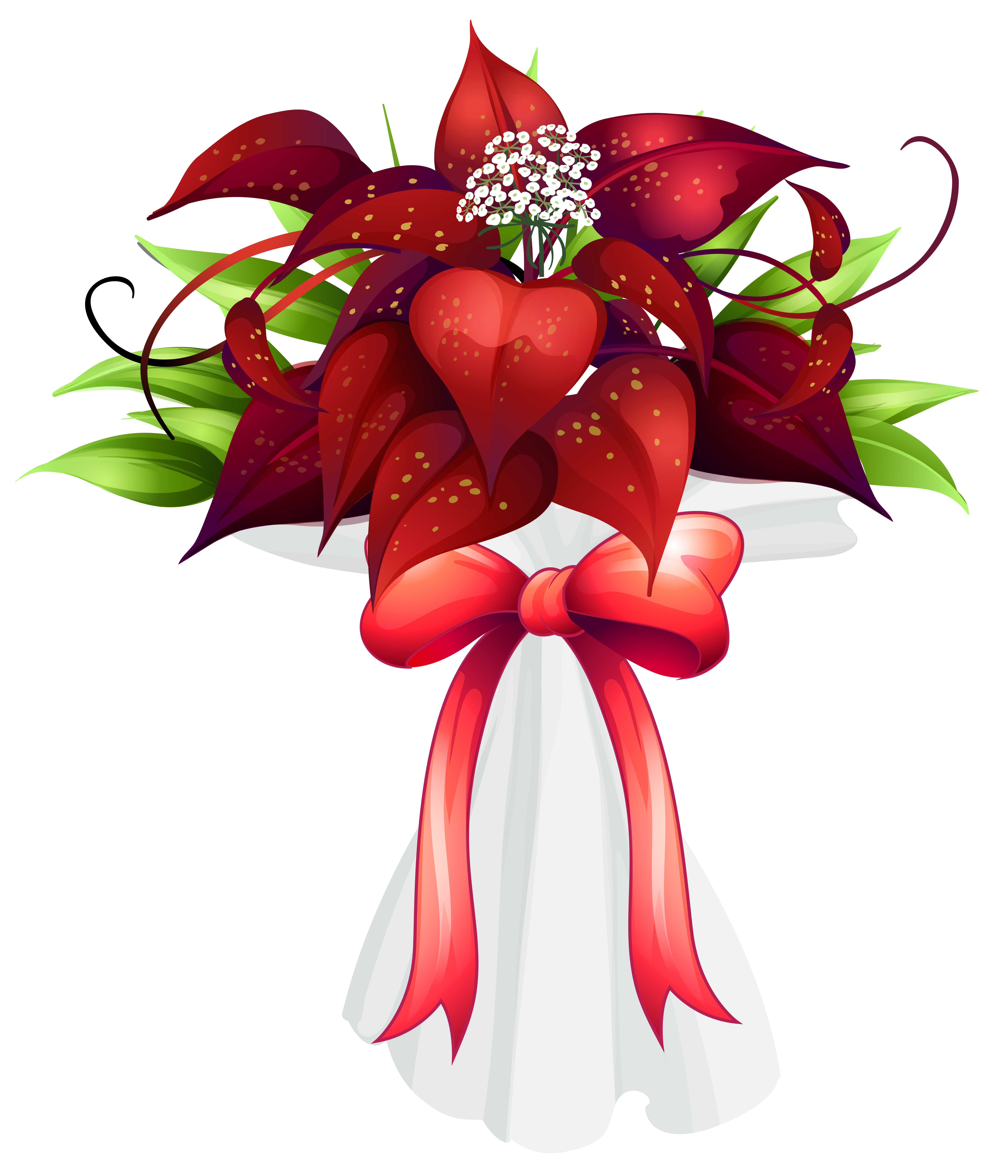 Clipart flower bouquet jpg free library Red Flowers Bouquet PNG Clipart Image | Gallery Yopriceville - High ... jpg free library