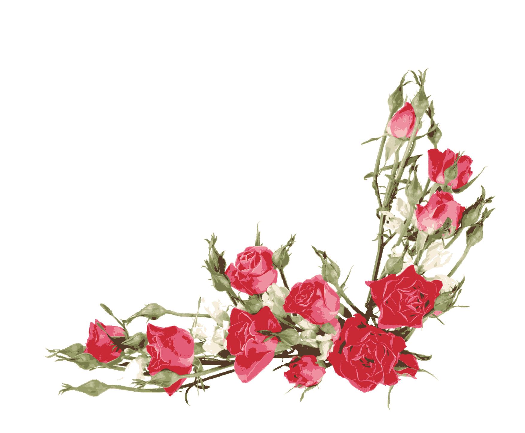 Flower bouquet border clipart clip stock Rose Flower bouquet Clip art - Red Rose Border 1753*1445 transprent ... clip stock