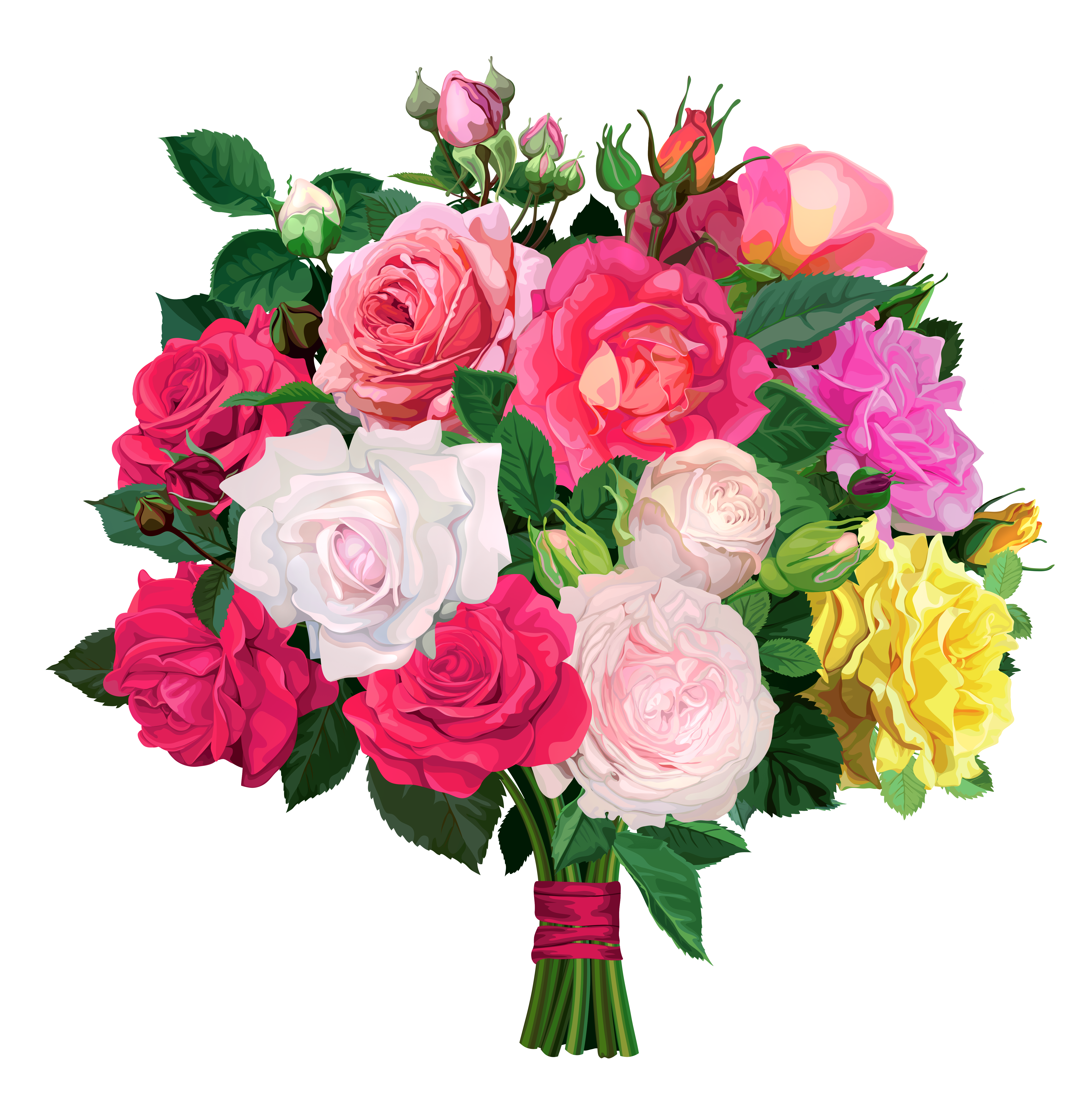 Clipart flower bouquet peach and green free stock Rose Bouquet PNG Transparent Clipart | Gallery Yopriceville - High ... free stock
