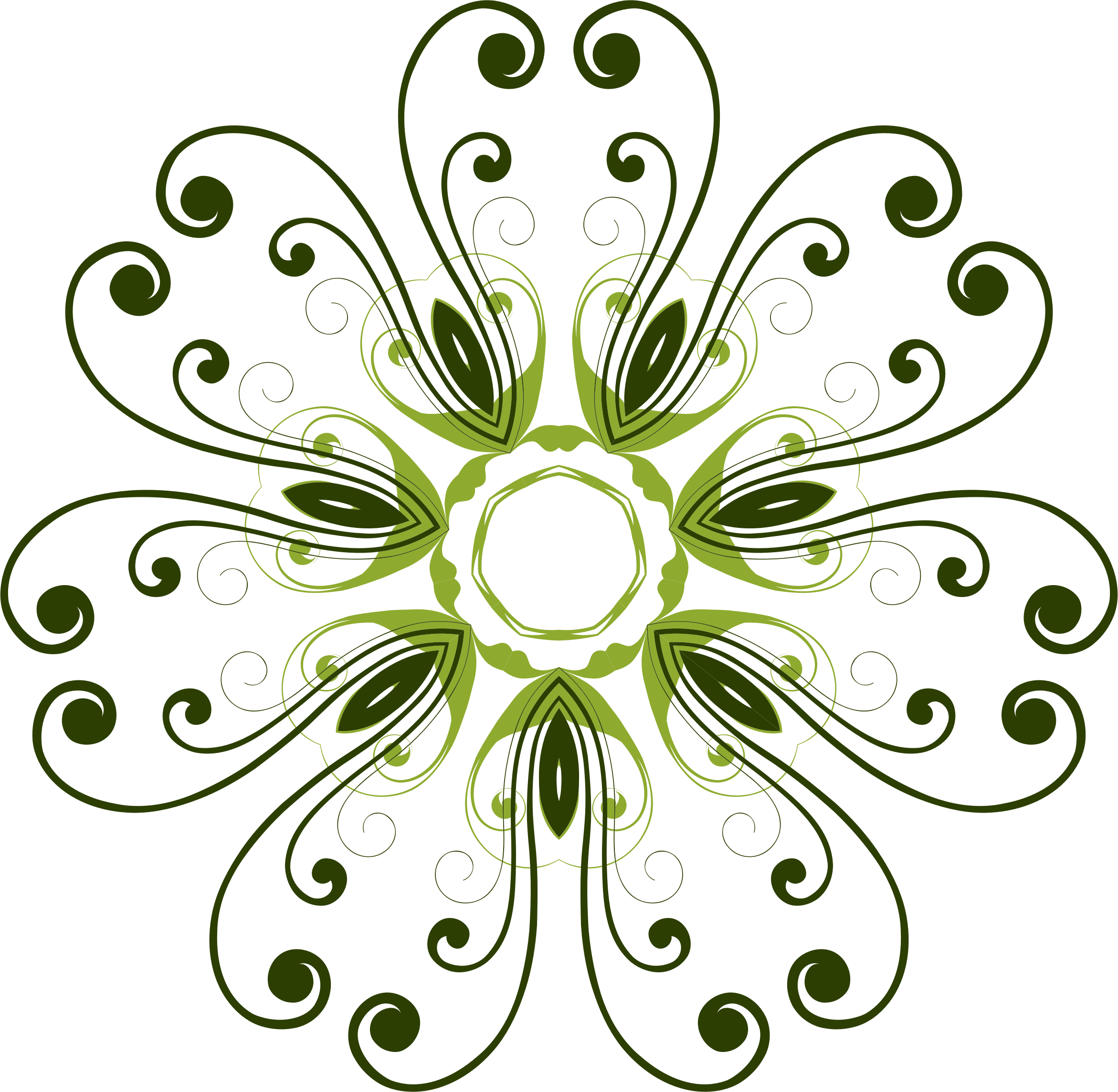 Design big image png. Flower flourish clipart