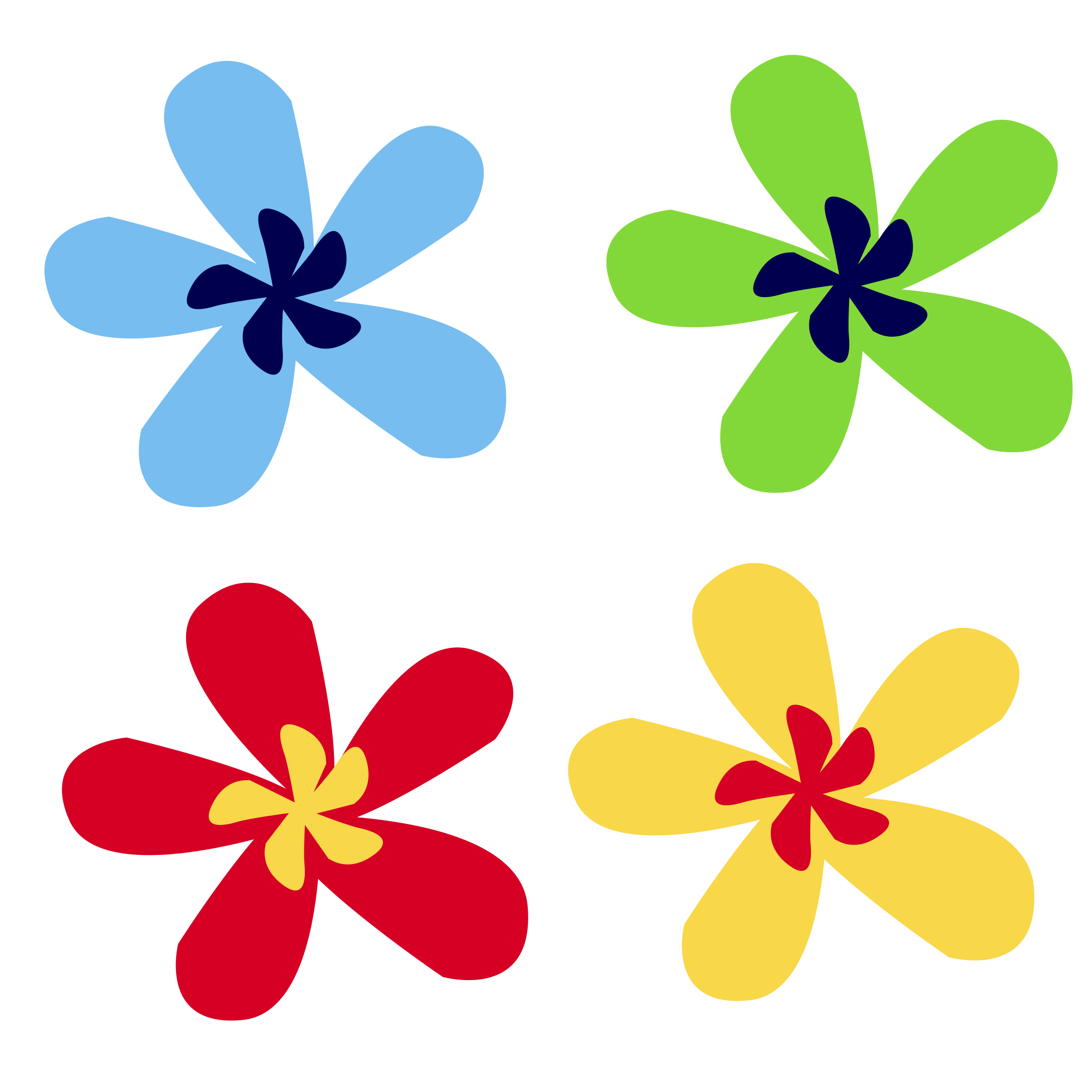 Flower designs clipart black and white Clipart - rainbow flower black and white