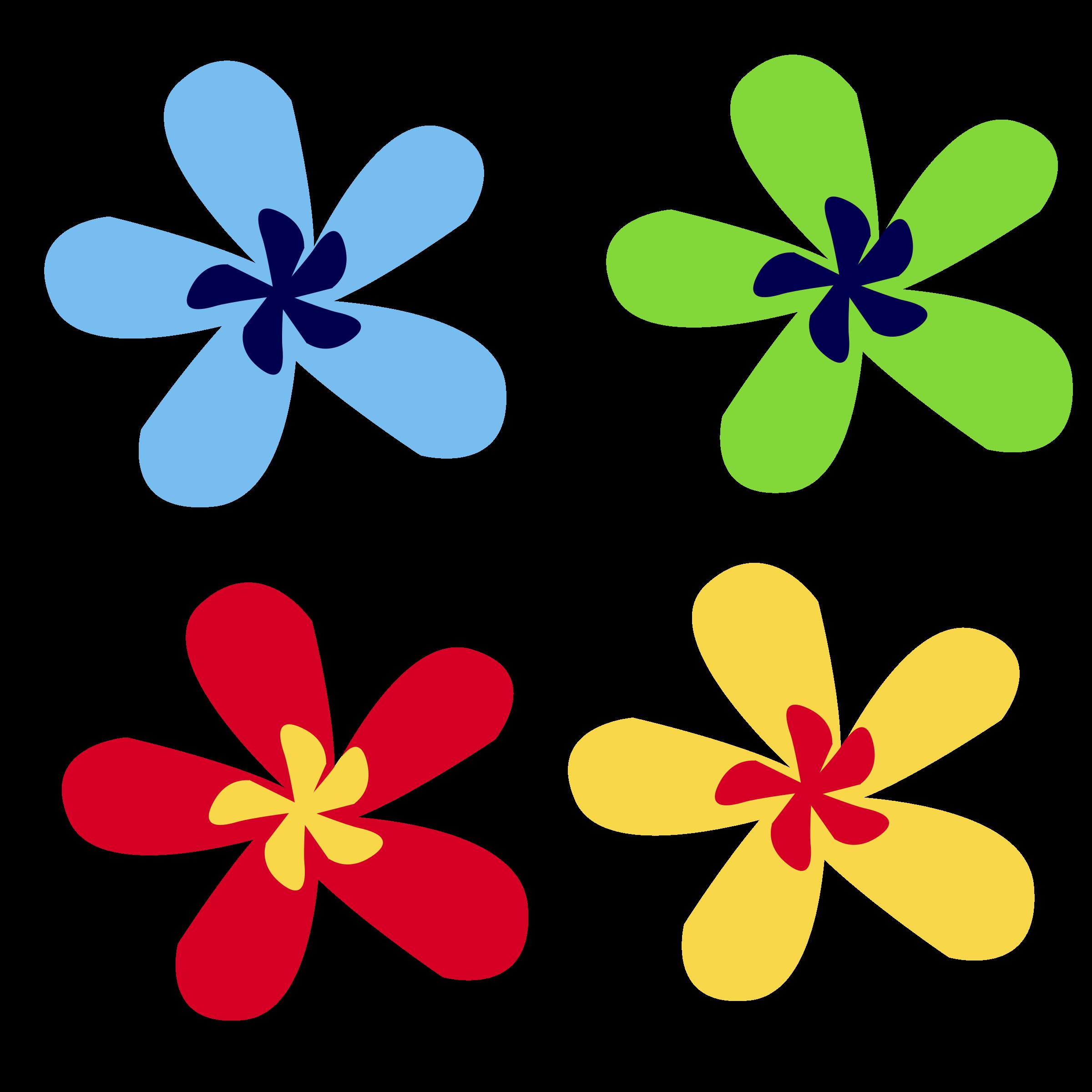 Flower clipart designs freeuse download Clipart - rainbow flower freeuse download