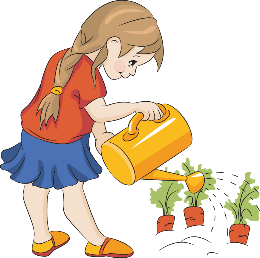 School garden clipart graphic library stock Watering Flowers Clip Art | Tavasz/Spring | Pinterest | Clip art graphic library stock