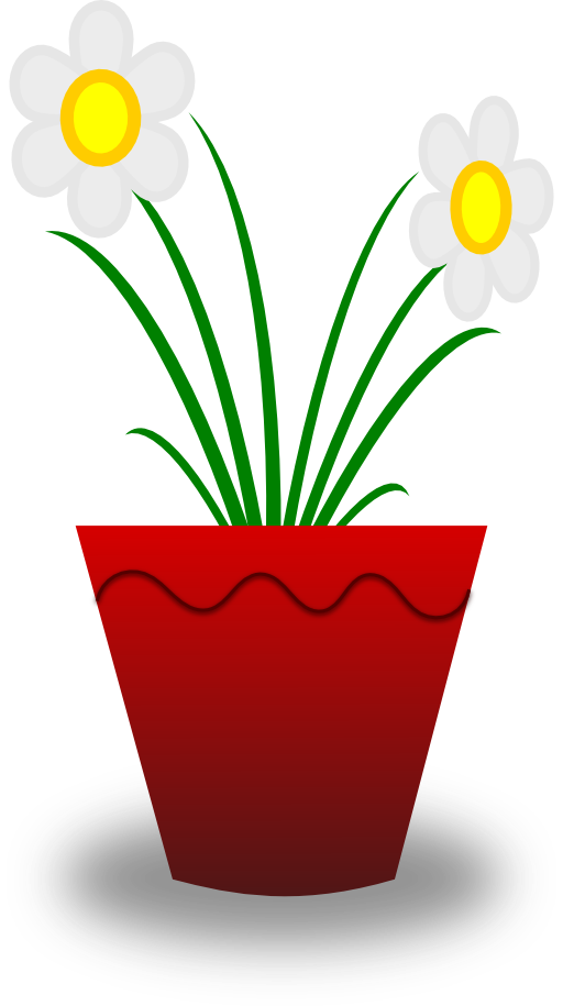 Flower in a pot clipart clipart royalty free download Flower Pot Clipart | i2Clipart - Royalty Free Public Domain Clipart clipart royalty free download
