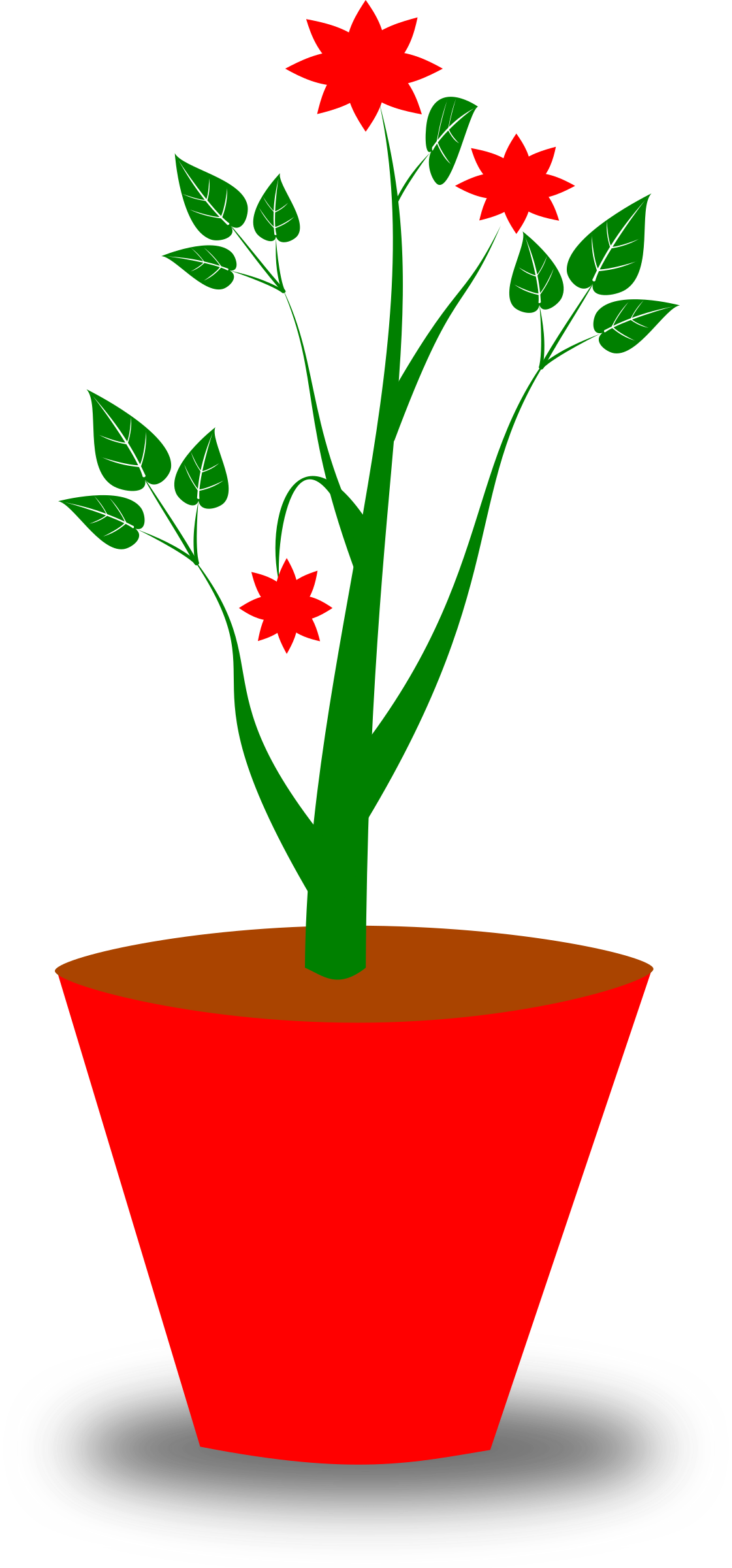 Planting flower clipart banner stock Clipart - Flower Pot banner stock