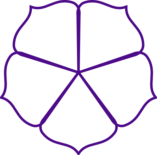 Free flower outline clipart svg stock Purple Flower Outline Clip Art at Clker.com - vector clip art online ... svg stock