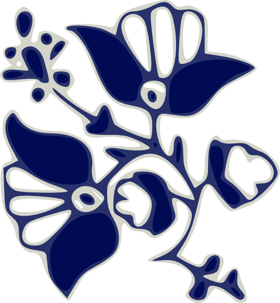 Clipart flower patterns vector freeuse library Blue Flower Pattern Clip Art at Clker.com - vector clip art online ... vector freeuse library