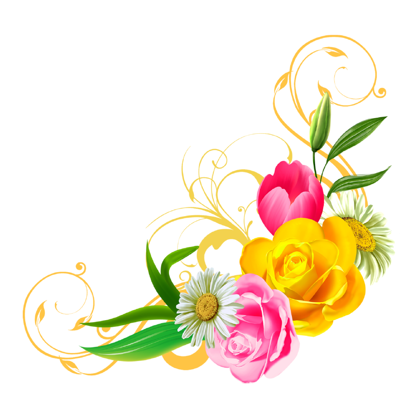 Library Of Vector Transparent Library Flower Png Png Files