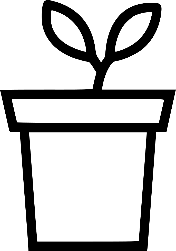 Clipart flower pot black and white clip free download Plant Flower Pot Decoration Leaf Svg Png Icon Free Download (#546709 ... clip free download