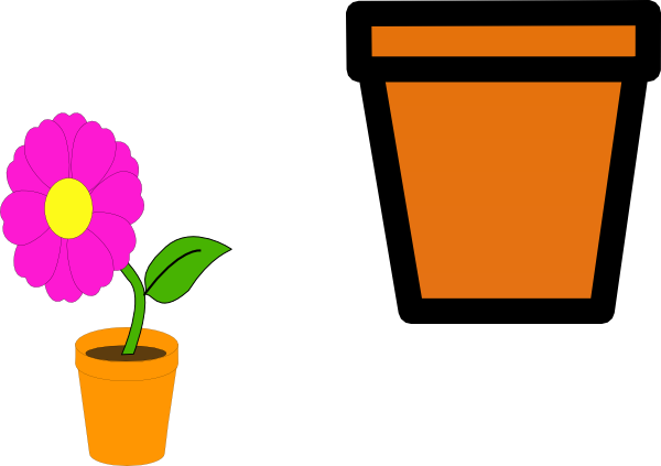 Plant pots clipart banner free download Free Flower Pot Outline, Download Free Clip Art, Free Clip Art on ... banner free download
