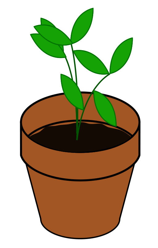 Plant images clipart graphic black and white download Free Flower Pot Clipart, Download Free Clip Art, Free Clip Art on ... graphic black and white download