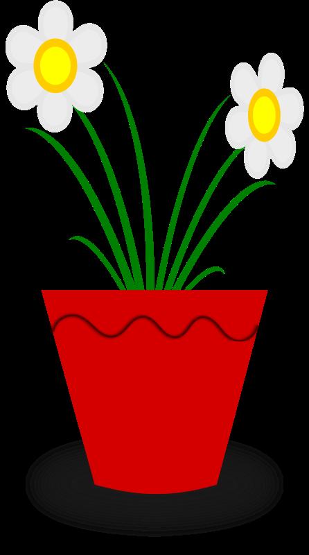 Clipart flower pot free banner transparent stock Free Clipart: Flower Pot   gsagri04 banner transparent stock