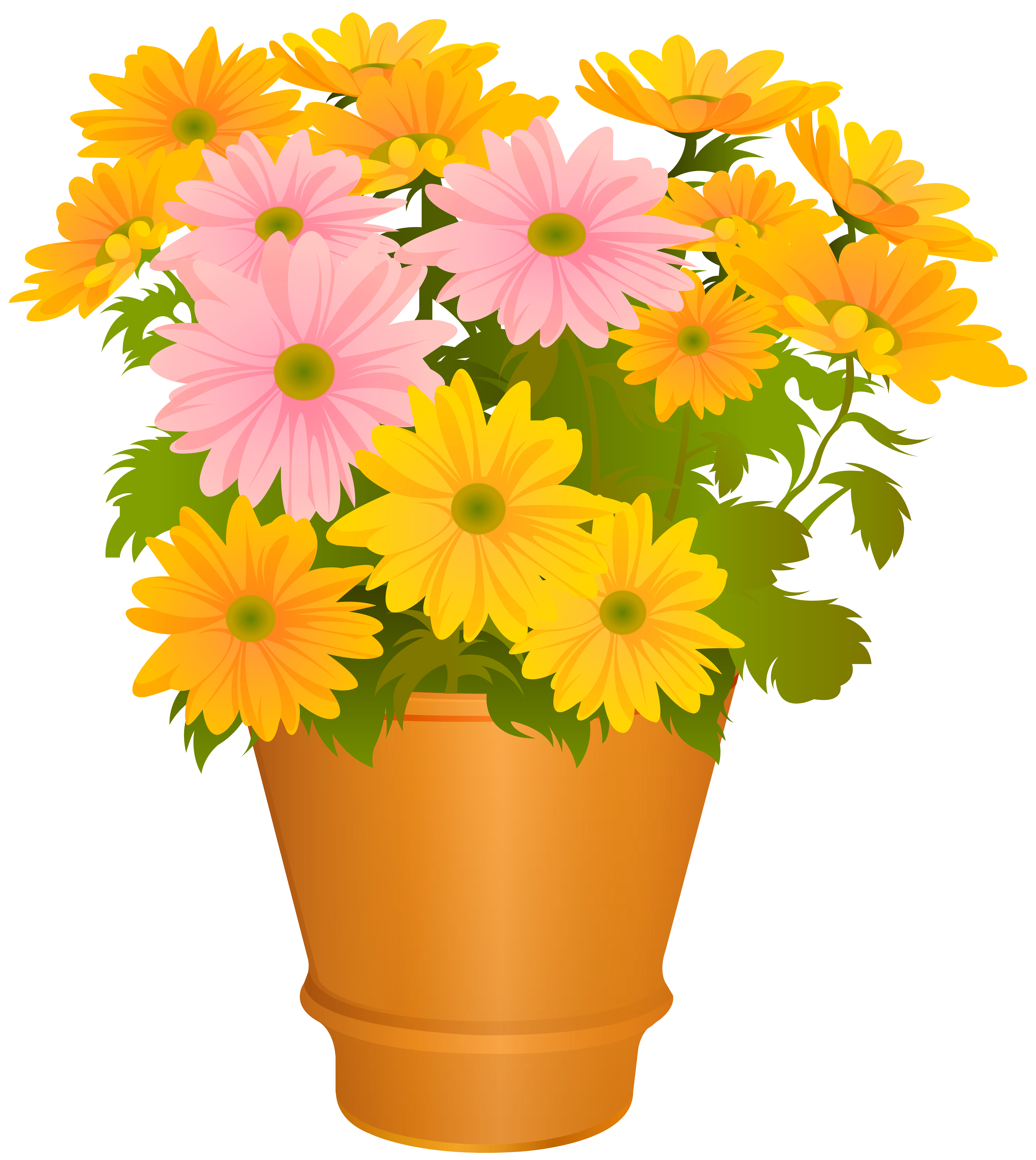 Clipart flower pot free vector free stock Flower Pot Transparent PNG Clip Art Image   Gallery Yopriceville ... vector free stock