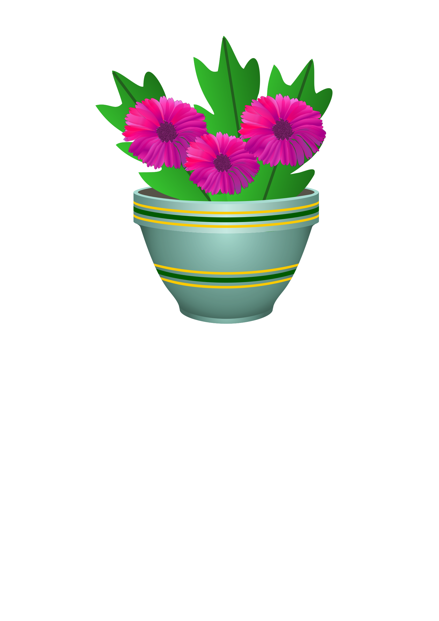 Flower in a pot clipart png freeuse Clipart - purple flower pot png freeuse