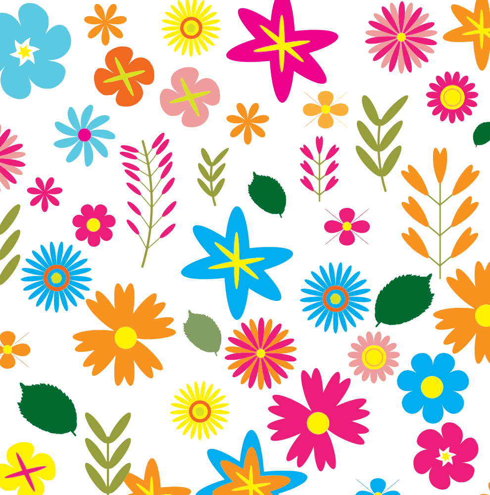 Different flower clipart jpg royalty free OnlineLabels Clip Art - Colorful Floral Pattern Background 3 jpg royalty free