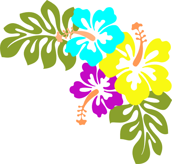 Hawaiian flower clipart free picture black and white Hawaiian Flower Clip Art | Flowers clip art - vector clip art online ... picture black and white