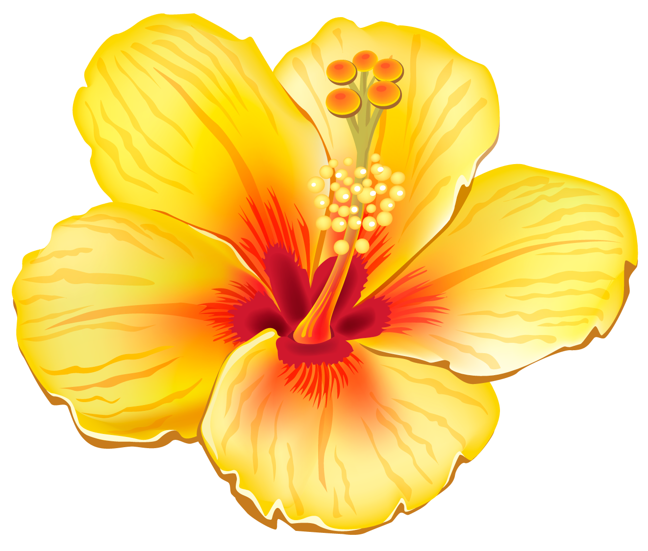 Tropical flower clipart free clip transparent Yellow Exotic Flower PNG Clipart Picture | My life | Pinterest ... clip transparent