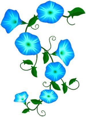 Vine flowers clipart clipart download Flower Vines Clip Art | Animated Blue Flowers - Flower Clipart ... clipart download