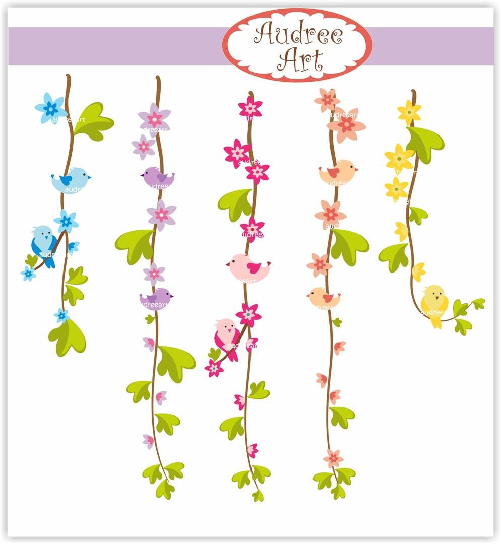 Floral vine clipart. Free flower cliparts download
