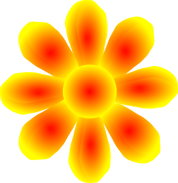 Yellow clipart flower graphic freeuse Flower Yellow Clip Art at Clker.com - vector clip art online ... graphic freeuse