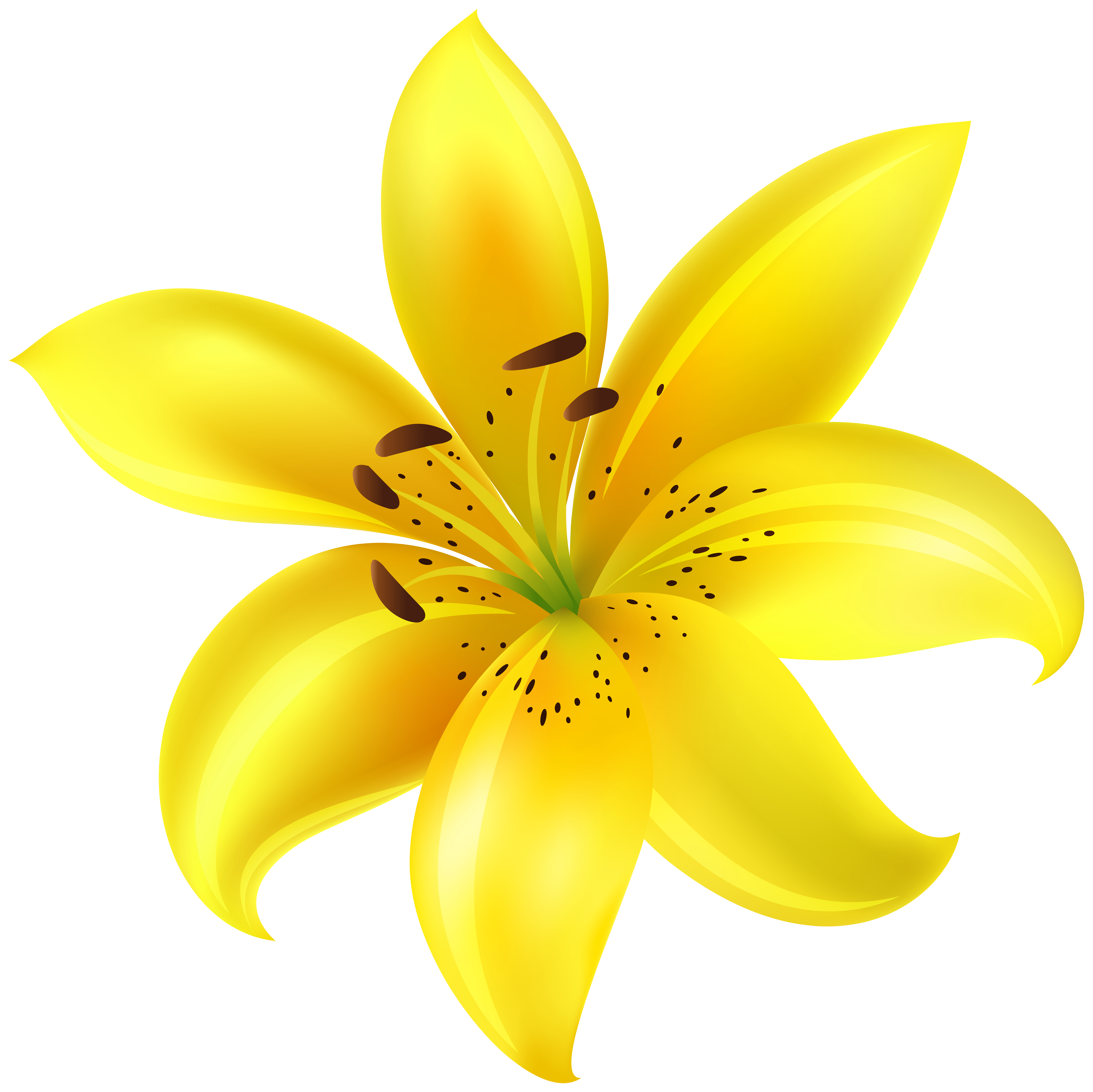 Clipart flower yellow png library Yellow Flower Clip Art Image | Gallery Yopriceville - High-Quality ... png library