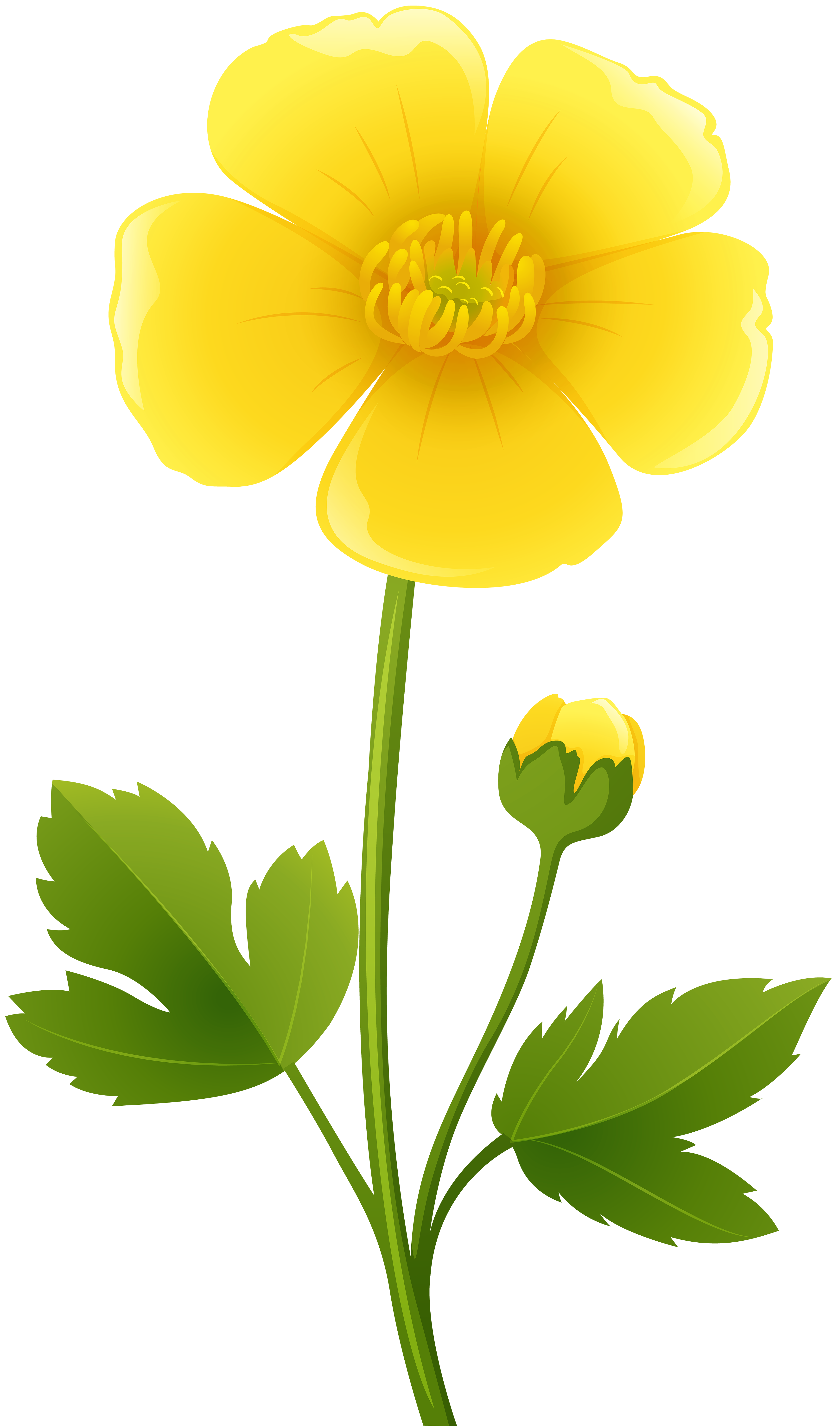 Yellow clipart flower picture library stock Yellow Flower Transparent PNG Clip Art Image | Gallery Yopriceville ... picture library stock