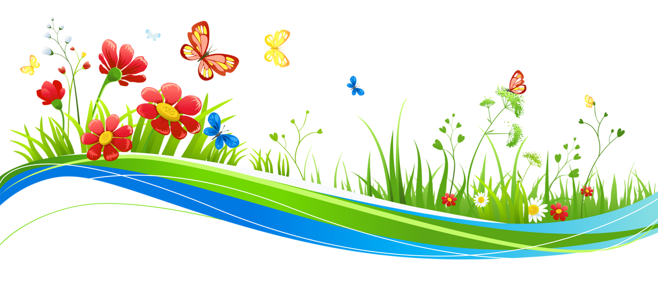 Butterfly on flower clipart clipart free library Transparent Decoration with Flowers and Butterflies PNG Picture ... clipart free library