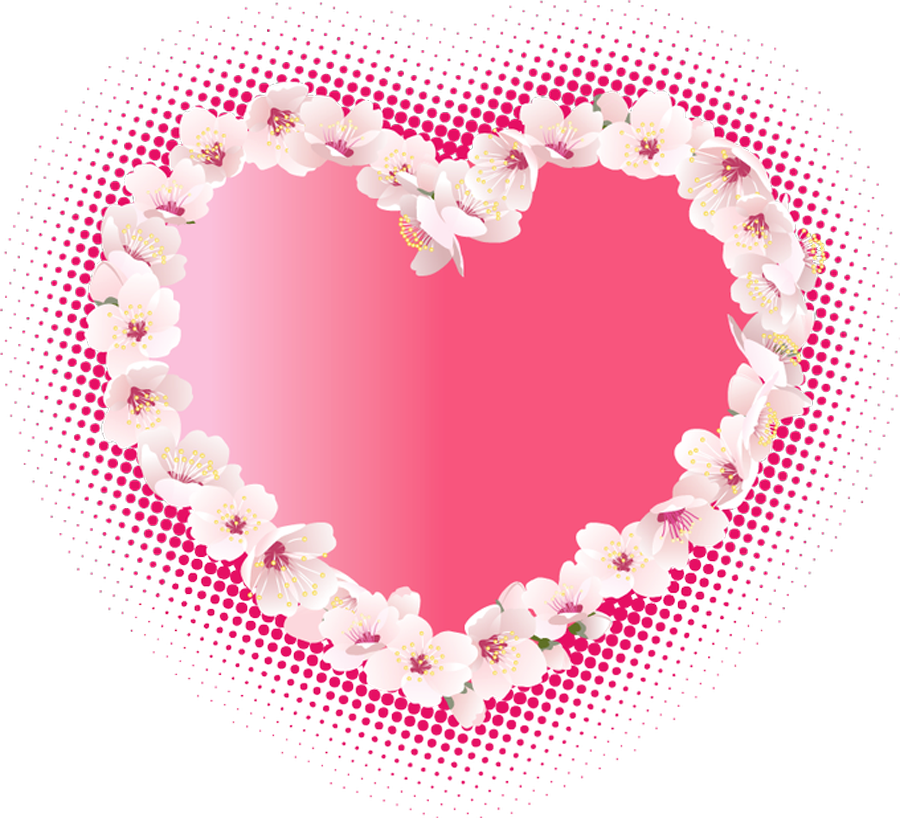 Clipart flowers and hearts picture freeuse stock Pink_Heart_with_Flowers_Clipart.png?m=1379714400 picture freeuse stock