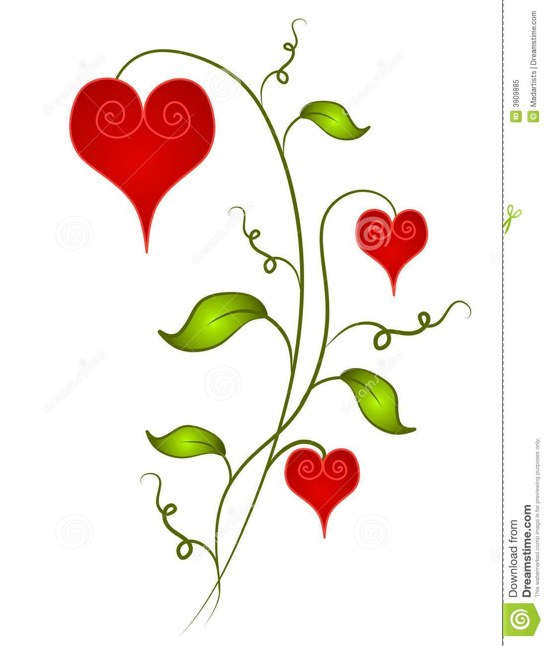 Clipart flowers and hearts banner free library Hearts and flowers clip art - ClipartFest banner free library