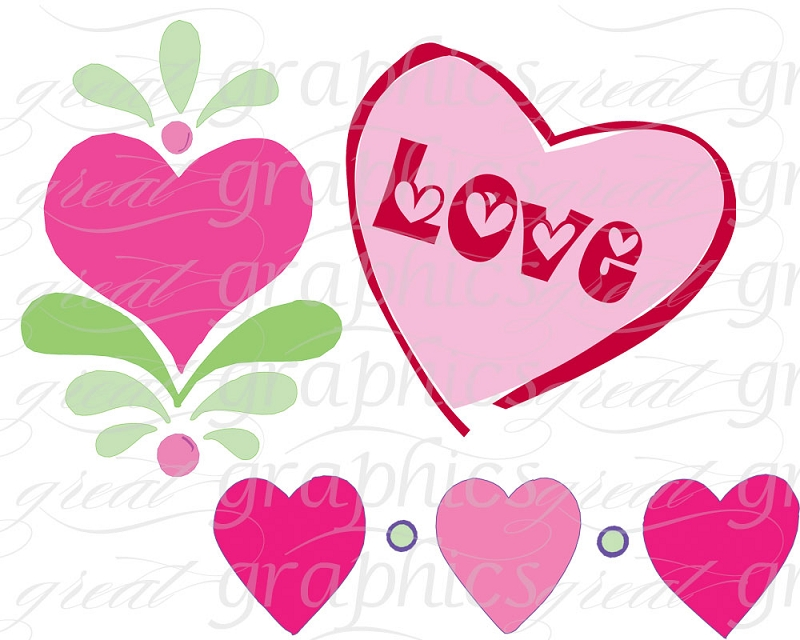 Clipart flowers and hearts jpg free Hearts And Flowers Clipart - Clipart Kid jpg free