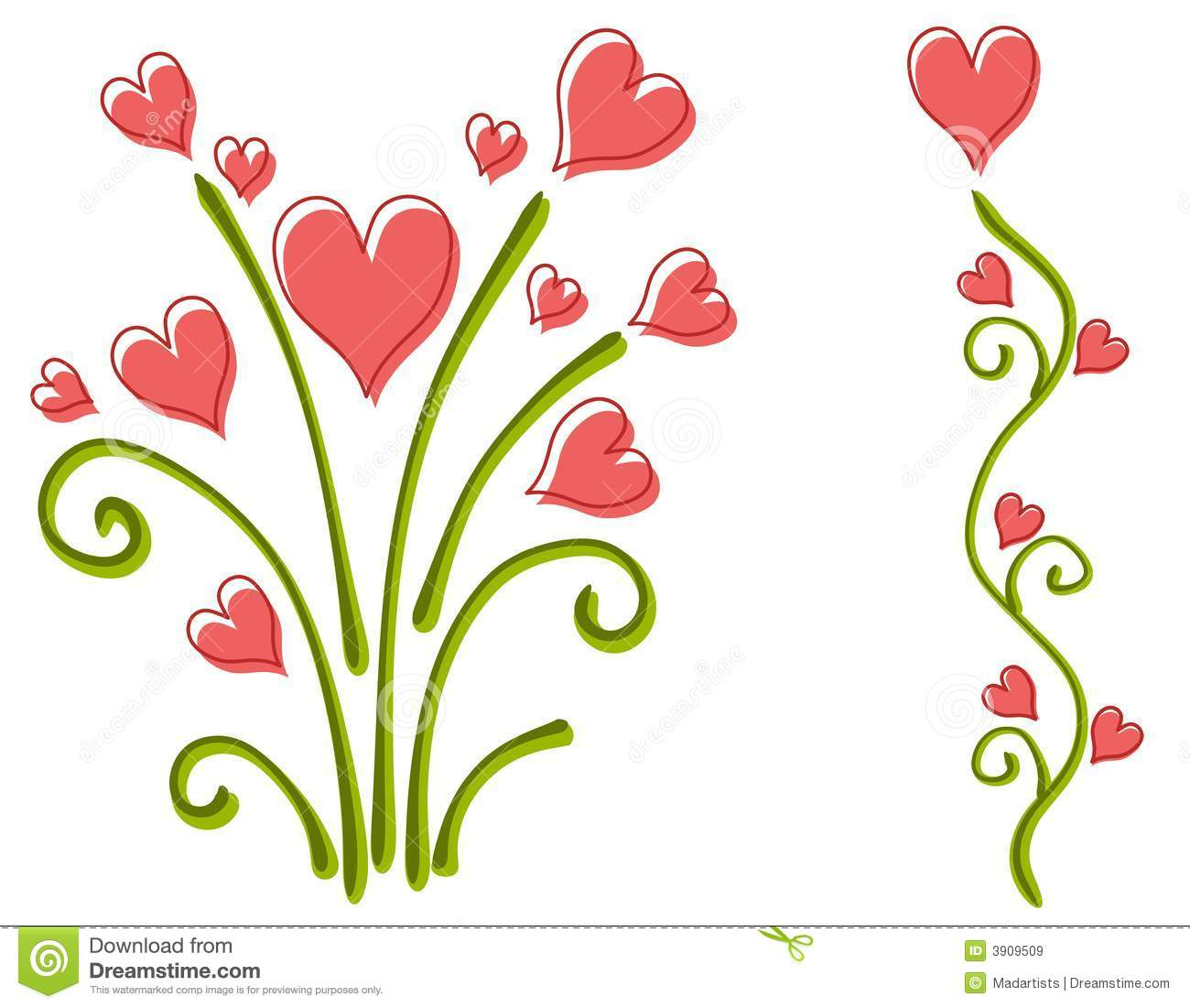 Clipart flowers and hearts jpg freeuse download Hearts And Flowers Clipart - Clipart Kid jpg freeuse download